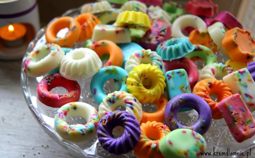 Kolorowe, pomarańczowo – cytrynowe mydełka a'la ciasteczka